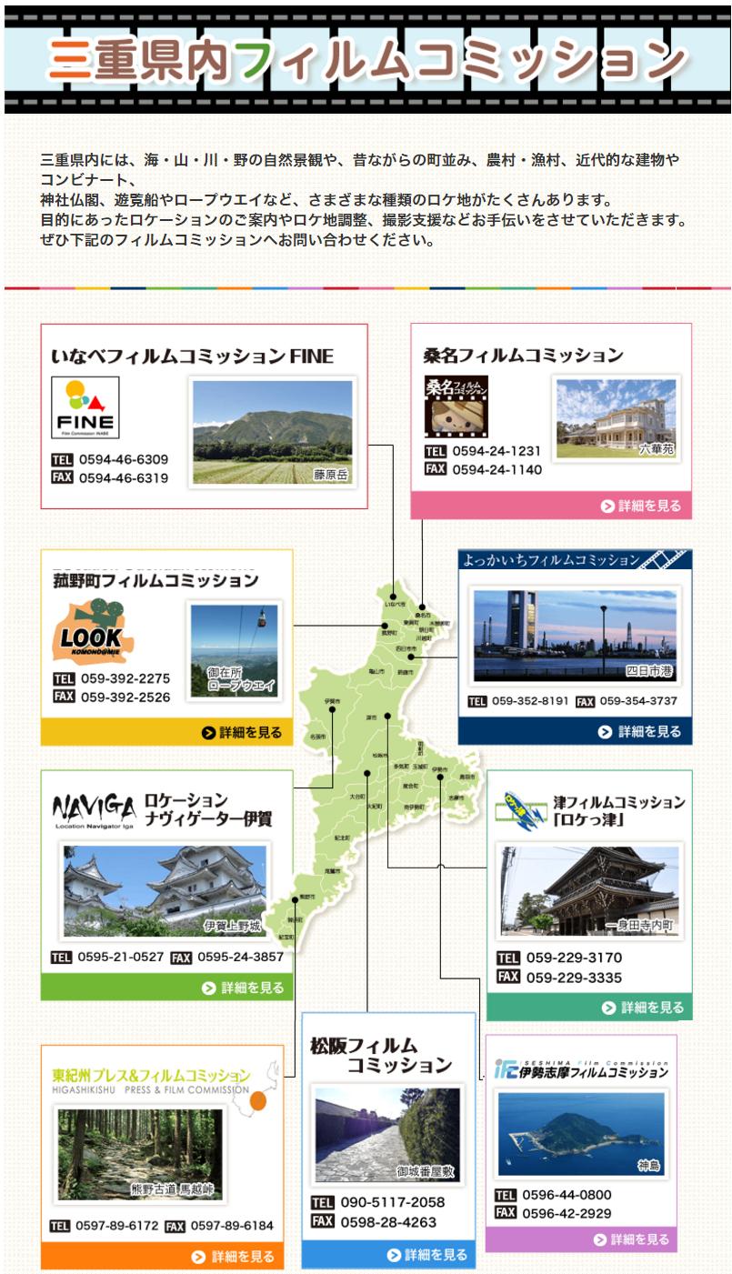 三重県内フィルムコミッション